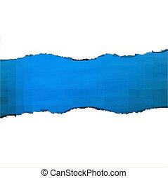 szakadt, kék, dolgozat, struktúra