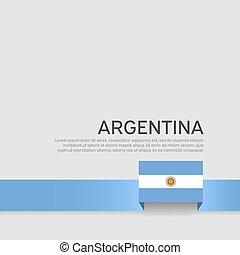 szalag, argentína, repülő, befest, állam, háttér., poster., lobogó, vektor, fehér, lakás, design., transzparens, nemzeti, hazafias, fedő