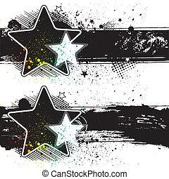 szalagcímek, csillag
