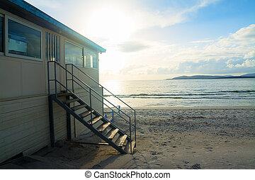 szardínia, tengerpart, tengerpart gátol