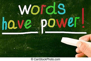 szavak, bír, power!