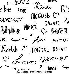 szavak, háttér, szeret