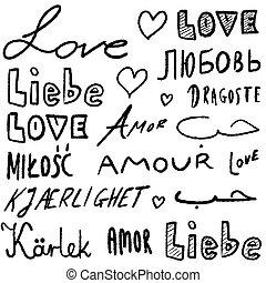 szavak, nyelvek, szeret