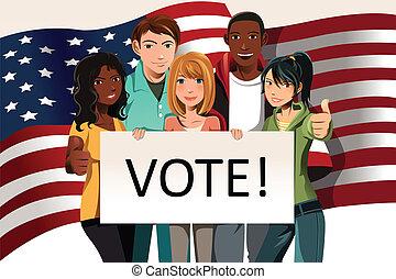 szavazás, emberek