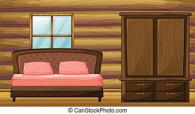 szekrény, ágy
