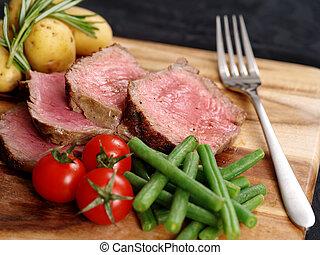 szelet, vacsora, hússzelet