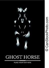 szellem, ló
