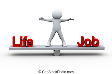 személy, élet, kiegyensúlyozott, munka, 3