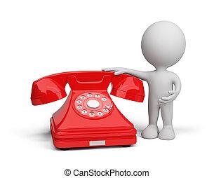 személy, 3, telefon