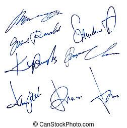személyes, signatures, állhatatos