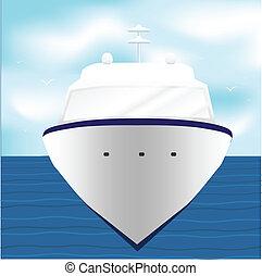 személyszállító hajó, óceán, tenger, luxushajó, csónakázik