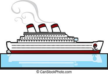 személyszállító hajó, #1, óceán
