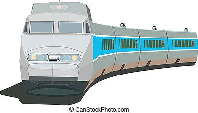 személyszállító vonat, gyorsan