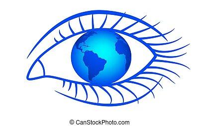 szem, földgolyó