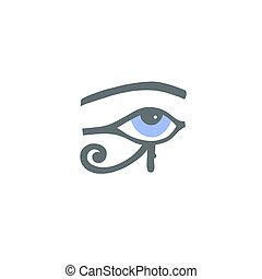 szem, hieroglifa, horus, egyiptomi, ra, vagy