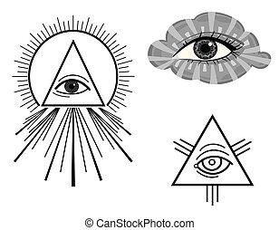 szem, látás, minden