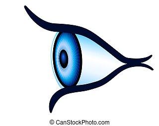 szem, szegély kilátás