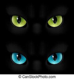 szemek, korbácsok