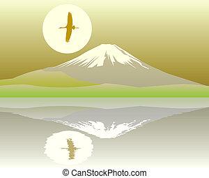 szent, hegy, fuji