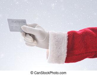 szent, hitelkártya, háttér, havas