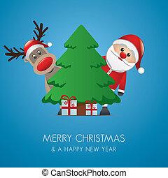 szent, rénszarvas, klaus, karácsonyi ajándék