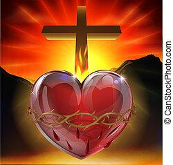 szent szív, ábra
