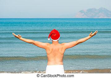 szent, szabadság, klaus, szünidő, tenger, élvez