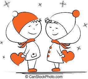szerető, birtok, párosít, tél