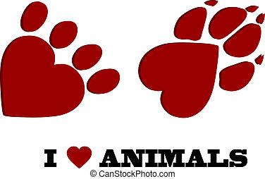szeret, állat