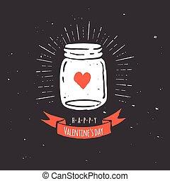 szeret, árajánlatot tesz, kőműves, chalkboard, szív, fekete, bögre