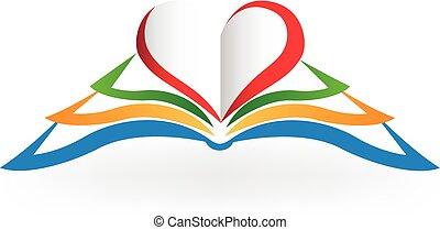 szeret, alakít, jel, szív, könyv