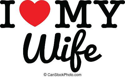 szeret, az enyém, feleség