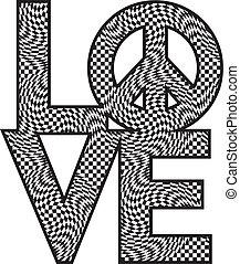 szeret, béke, tarka