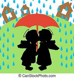 szeret, eső