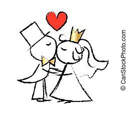szeret, esküvő párosít