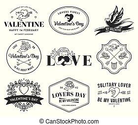 szeret, fehér, valentines, fekete