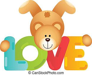 szeret, hord, teddy-mackó