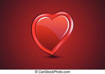 szeret, jel, vektor, szív, valentines