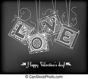 szeret, kártya