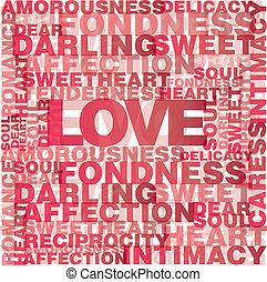 szeret, szavak, kedves