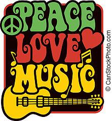 szeret, zene, rasta, befest, béke