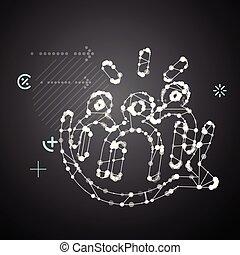 szerkezet, -, ábra, hang, társadalmi, elvont, közösség