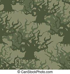 szerkezet, oltalmazó, clothes., katona, álcáz, háttér, öreg, seamless, fa., pattern., hadi, hadsereg