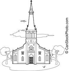 szerkezet, templom