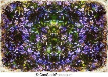 szerkezet, virágos, color., ibolya, díszítés, díszítő, háttér., pattern.