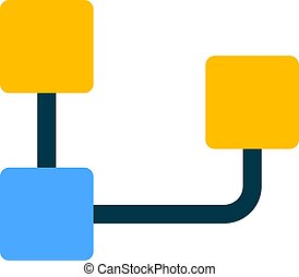 szervezet, diagram, átfordított