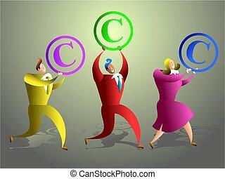 szerzői jog, befog