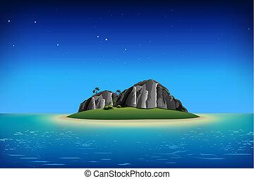 sziget, sziklás