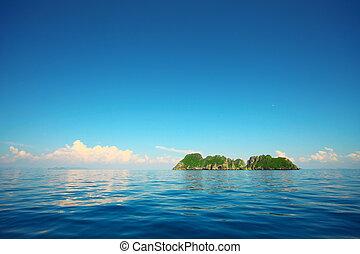 sziget, tenger