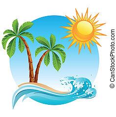 sziget, tropikus